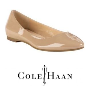 Cole Haan Julianna Skimmer Patent Leather  Flats